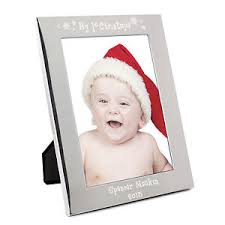 Personalised Silver My 1st Christmas 5x7 Photo Frame Engraved Free
