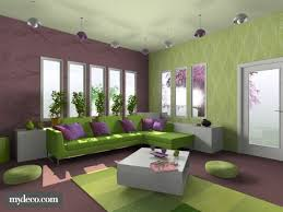 Purple And Green Living Room Living Room Modish Living Room Color Schemes Purple With Green