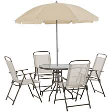 outsunny 6pc patio dining furniture set