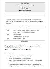 sample hr cv template resume samples for hr
