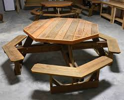 woodworking design wooden table designs plans cool hexagon picnic sophisticated octagon with umbrella hole best decoration