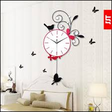 Superior High Grade Living Room Bedroom Wall Clock Artistic Clock Creative Pastoral  Butterfly Swing Decorative Wall Clocks