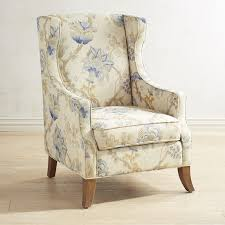 Blue Patterned Chair Awesome Alec Blue Floral Wing Chair For The Home Pinterest Central