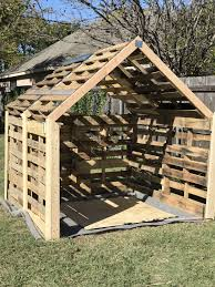 Pallet Cabin Designs Shed For My Riding Lawn Mower Made Out Of Pallets Super