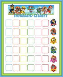 Potty Training Chart Printable Paw Patrol Paw Patrol Reward Chart Kids Potty Printable Reward