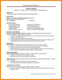 13 Biology Resume Letter Adress