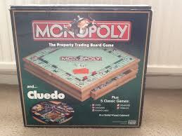Wooden Monopoly Game Set Magnificent Monopoly And Cluedo Compendium Wooden Game Set In Swindon
