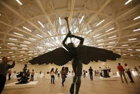 Salvador Dali's sculpture The Triumphant Angel Reuters. The new Soumaya  Museum that opened in Mexico City ...