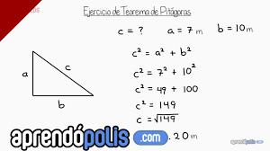 Ejercicio 1 de Teorema de Pitágoras - YouTube