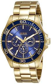 guess gvss5 men s quartz watch blue dial analogue display guess gvss5 men s quartz watch blue dial analogue display and gold stainless steel