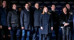 Enrico Michetti chiude la campagna elettorale a Campo dei Fiori con Giorgia  Meloni: «E' come nel 1948, andiamoci a prendere il Campidoglio»