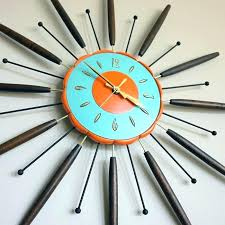 atomic mid century wall clock gifts for others