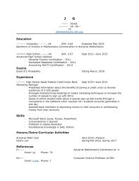 How To Improve Resume For Internship Actuary Plus Radio Info