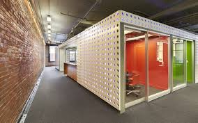 vancouver office space meeting rooms. the design process lead to a solution where meeting rooms and support spaces were internalized open plan workstations distributed at vancouver office space o