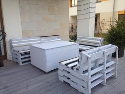 diy grey painted pallet terrace furniture build pallet furniture
