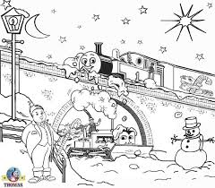 Small Picture FREE Christmas Coloring Pages For Kids Printable Thomas Snow