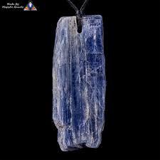 all natural brazilian blue kyanite pendant