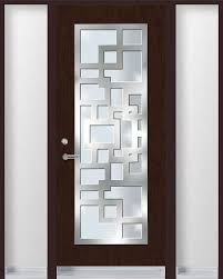 single entry door with stainless steel frame on top of glass with decoration single entry doors