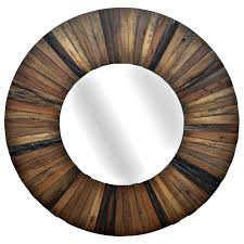 dodge small round mirror with wood frame dcg s throughout design 9
