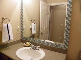bathroom mirror frame tile. Tile Framed Bathroom Mirror Mondebloqueur Frame