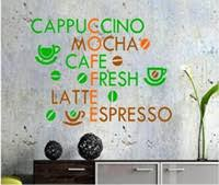 free shipping creative coffee wall stickers home decor living room decoration modern wall decor art vinyl quotes kitchen decor custom on cafe wall art nz with kitchen vinyl wall art nz buy new kitchen vinyl wall art online