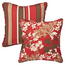 Outdoor Throw Pillows Red Cozy and Trendy Outdoor Throw Pillows