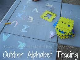 outdoor activities for preschoolers. Outdoor Alphabet Tracing Activity For Kids Activities Preschoolers