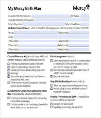 How To Plan Baby Birth Date 50 Free Birth Plan Templates Word Pdf Formats