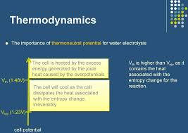 cell will cool as the cell dissipates the heat associated with the entropy change irreversibly