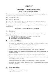 Cashier Mcdonalds Responsibilities Resume Position Restaurant