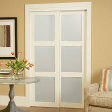 Shop ReliaBilt 3-Lite Frosted Glass Sliding Closet Interior Door ...