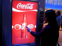 Coca Cola Touch Screen Vending Machine Mesmerizing Samsung Touchscreen Demo At CES YouTube