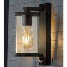 auva outdoor wall light with pir in