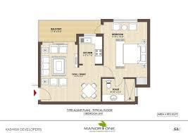 1 Bhk Layout Design Kashish Manor One Layout Plan For 1 Bedroom Unit Villas