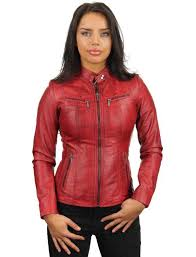 leather jacket red round collar 315 model2 leather women s jacket red with