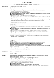 Janitorial Resume Examples Janitorial Manager Resume Samples Velvet Jobs 19
