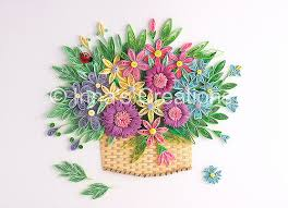 Paper Quilling Flower Baskets Flower Basket Paper Quilling Created By Inna Increations Flickr