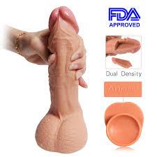 Wife enjoys realistic dildo vibrator