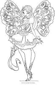 Disegno Di Flora Butterflix Winx Club Da Colorare