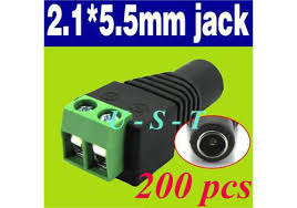 2019 2.1mm CCTV <b>Camera</b> DC Power Female Jack Connector <b>DHL</b> ...