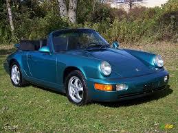 1993 Wimbledon Green Metallic Porsche 911 Carrera 4 Cabriolet ...