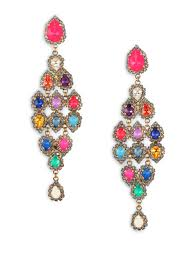 full size of lighting endearing multi colored chandelier earrings 1 erickson beamon gold telepathic crystal pear