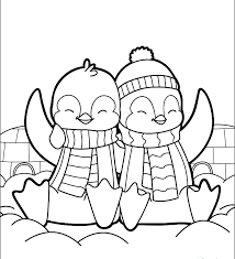 cute penguin coloring pages. Simple Cute Cute Penguin Coloring Pages Page And Book Free  Col Sheets Intended C