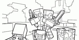 Minecraft Kleurplaten Printen