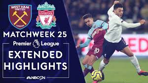 West Ham United v. Liverpool | PREMIER LEAGUE HIGHLIGHTS | 1/29/20