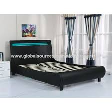 China Faux Leather bed, LED lighting at headboard on Global Sources