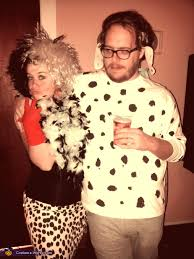 cruella and one of the 101 dalmatians costume