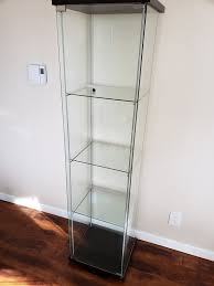 ikea detolf glass display cabinet case