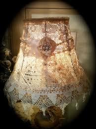 shabby chic lighting fixtures. shabby chic crochet lampshade doily lamp shade gorgeous elegance via etsy lighting fixtures