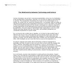 the relationship between technology and culture university document image preview